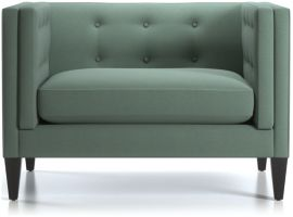 Aidan Tufted Chair and a Half shown in Cole, Bay
