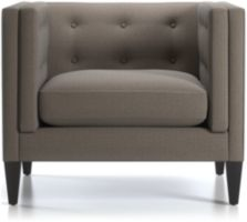 """Aidan 38"""" Tufted Chair shown in Cole, Nickel"""