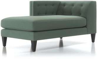 Aidan Left Arm Tufted Chaise Lounge shown in Cole, Bay