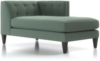 Aidan Right Arm Tufted Chaise Lounge shown in Cole, Bay