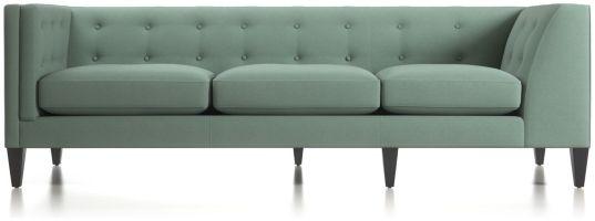 Aidan Left Arm Tufted Corner Sofa shown in Cole, Bay