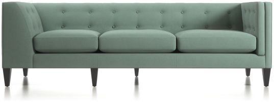 Aidan Right Arm Tufted Corner Sofa shown in Cole, Bay