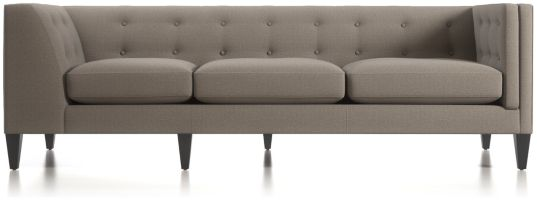 Aidan Right Arm Tufted Corner Sofa shown in Cole, Nickel