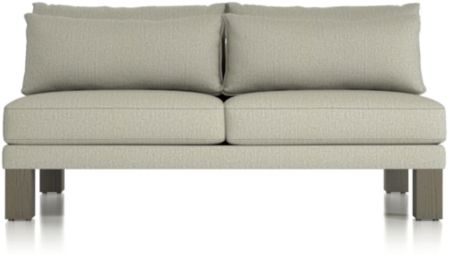 Winstead Armless Loveseat shown in Profile, Cloud