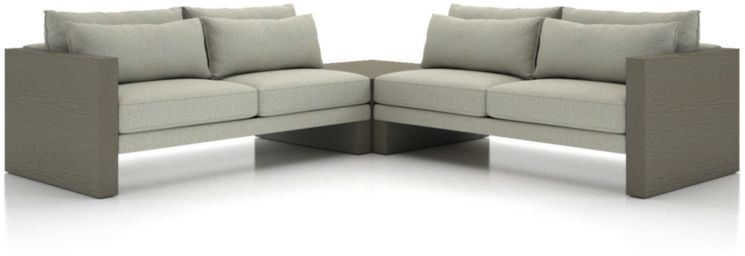 Winstead 3-Piece Table Sectional shown in Profile, Cloud