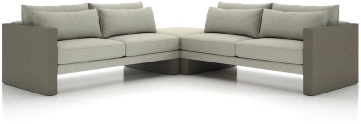 Winstead 3-Piece Ottoman Sectional shown in Profile, Cloud
