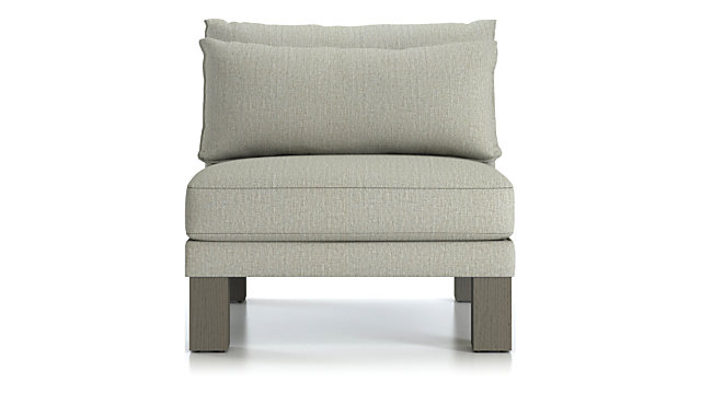 Winstead Armless Chair shown in Profile, Cloud