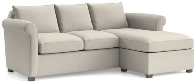 Hayward Rolled Arm Reversible Sectional shown in Tahoe, Blizzard