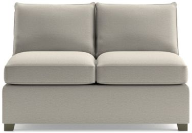 Hayward Armless Loveseat shown in Tahoe, Blizzard
