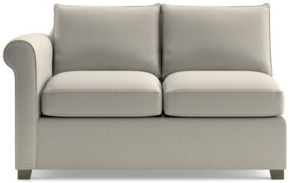 Hayward Left Arm Loveseat shown in Tahoe, Blizzard