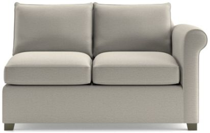 Hayward Right Arm Loveseat shown in Tahoe, Blizzard