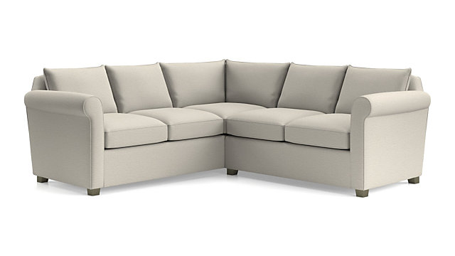 Hayward 2-Piece Left Arm Corner Sofa Rolled Arm Sectional + Reviews | Crate  and Barrel