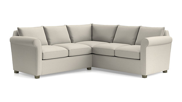 Hayward 2-Piece Right Arm Corner Sofa Rolled Arm Sectional + ...