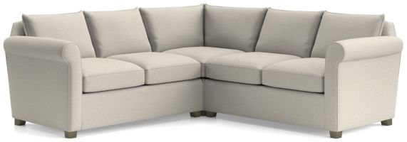 Hayward 3-Piece Rolled Arm Sectional(Left Arm Loveseat, Corner, Right Arm Loveseat) shown in Tahoe, Blizzard