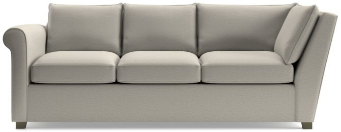 Hayward Left Arm Corner Sofa shown in Tahoe, Blizzard