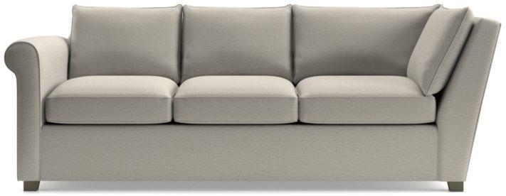 Hayward Left Arm Corner Sofa shown in Tahoe, Blizzard