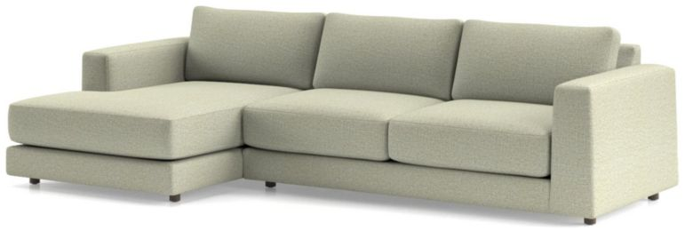 Peyton 2-Piece Left Arm Chaise Sectional(Left Arm Chaise, Right Arm Sofa) shown in Macey, Cashmere