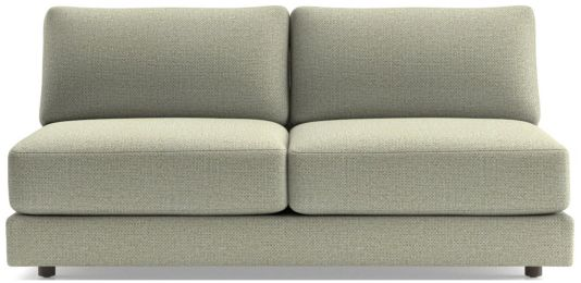 Peyton Armless Sofa shown in Macey, Cashmere