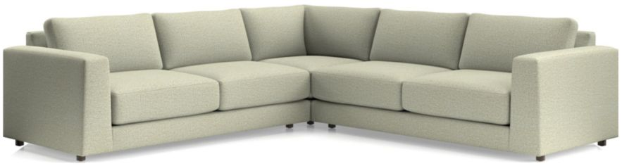Peyton 3-Piece Sectional(Left Arm Sofa, Corner, Right Arm Sofa) shown in Macey, Cashmere