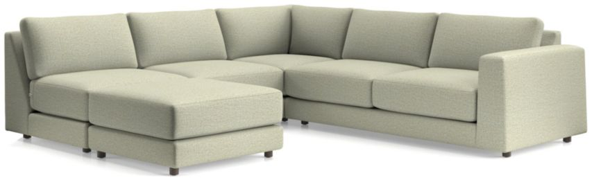 Peyton 4-Piece Right Arm Sofa Sectional(Ottoman, Armless Sofa, Corner, Right Arm Sofa) shown in Macey, Cashmere