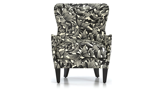 Brielle Wingback Chair shown in Blossom, Onyx