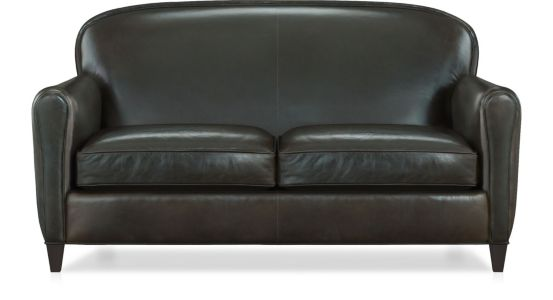 Eiffel Leather Loveseat shown in Tampa, Cigar