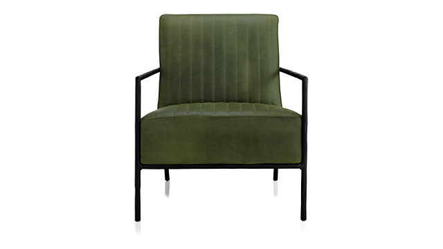 Pratt Leather Metal Frame Chair shown in Chester, Field