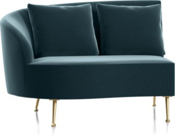 Bellevue Left Arm Loveseat shown in Como, Capri