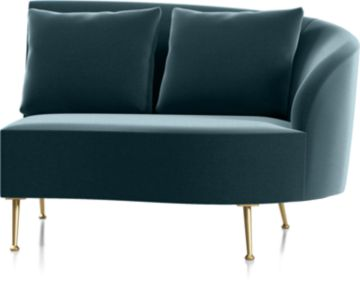 Bellevue Right Arm Loveseat shown in Como, Capri