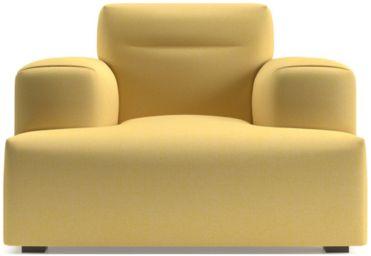 Kirby Deep Cushion Chair shown in Devon, Maize