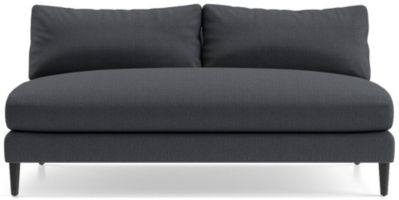 Monahan Armless Loveseat shown in Desi, Ink