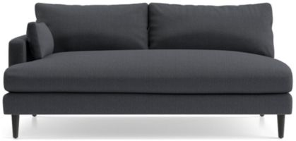 Monahan Left Arm Loveseat Sofa shown in Desi, Ink