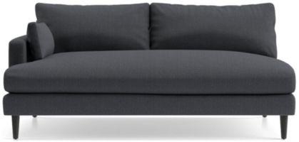 Monahan Left Arm Loveseat Sofa shown in Desi, Ink