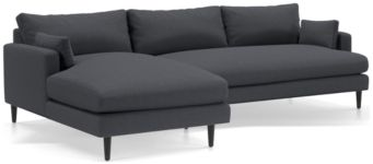 Monahan 2-Piece Left Arm Chaise Sectional(Left Arm Chaise, Right Arm Loveseat) shown in Desi, Ink