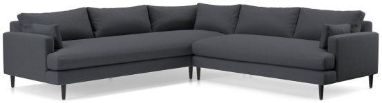 Monahan 2-Piece Left Arm Corner Sofa Sectional(Left Arm Corner Sofa, Right Arm Loveseat) shown in Desi, Ink