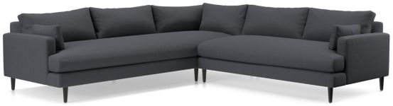 Monahan 2-Piece Left Arm Corner Sofa Sectional(Left Arm Corner Sofa, Right Arm Loveseat) shown in Desi, Ink