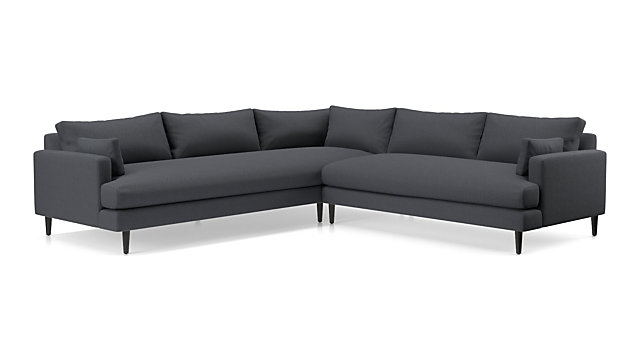 Monahan 2-Piece Left Arm Corner Sofa Sectional | Crate and Barrel