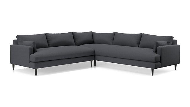 Monahan 2-Piece Right Arm Corner Sofa Sectional + Reviews | Crate ...