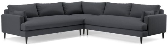 Monahan 3-Piece Sectional(Left Arm Loveseat, Corner, Right Arm Loveseat) shown in Desi, Ink