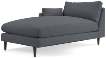 Monahan Left Arm Chaise shown in Desi, Ink