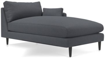 Monahan Right Arm Chaise shown in Desi, Ink