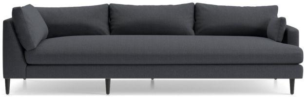 Monahan Right Arm Corner Sofa shown in Desi, Ink