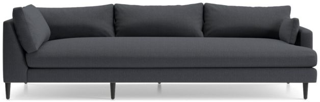 Monahan Right Arm Corner Sofa shown in Desi, Ink