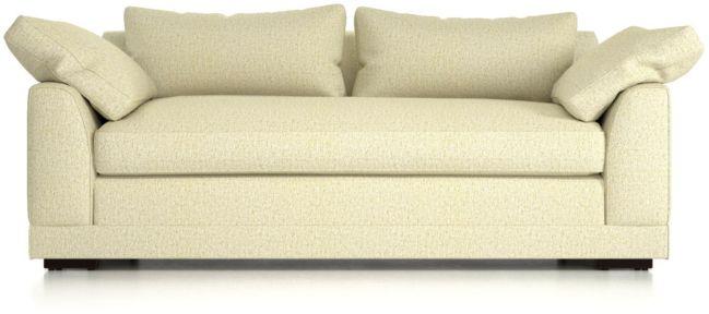 Delmar Pillow Arm Apartment Sofa shown in Catalina, Pearl