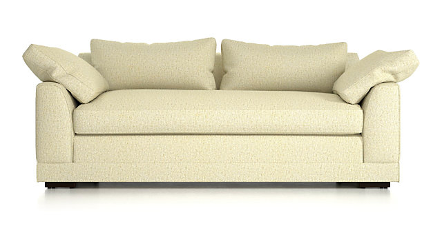 Delmar Pillow Arm Apartment Sofa shown in Catalina, Pearl
