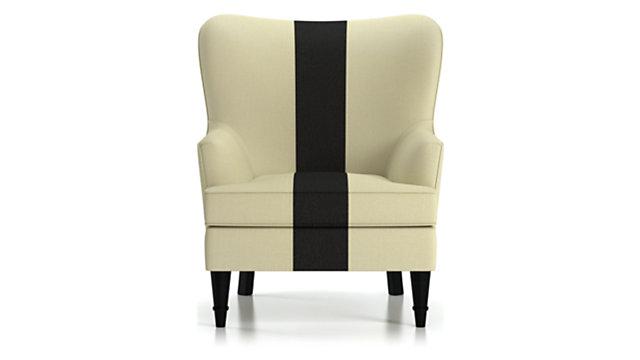 Amherst Striped Chair shown in Georgia Cloud (frame), Georgia Onyx (stripe)