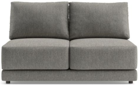 Gather Armless Loveseat shown in Icon, Metal