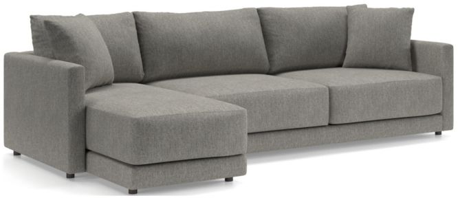 Gather 2-Piece Left Arm Chaise Sectional shown in Icon, Metal