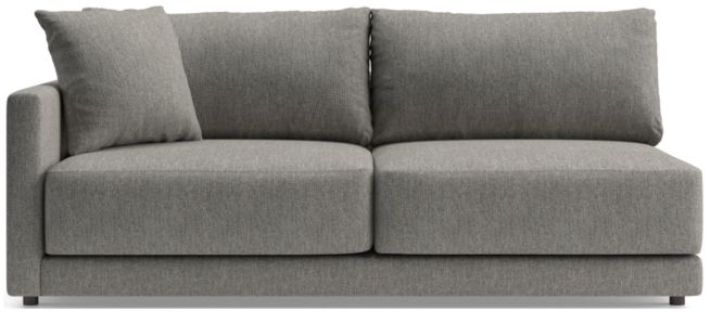 Gather Left Arm Sofa shown in Icon, Metal