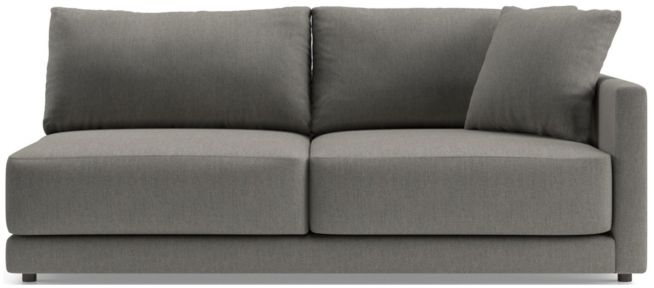 Gather Right Arm Sofa shown in Icon, Metal